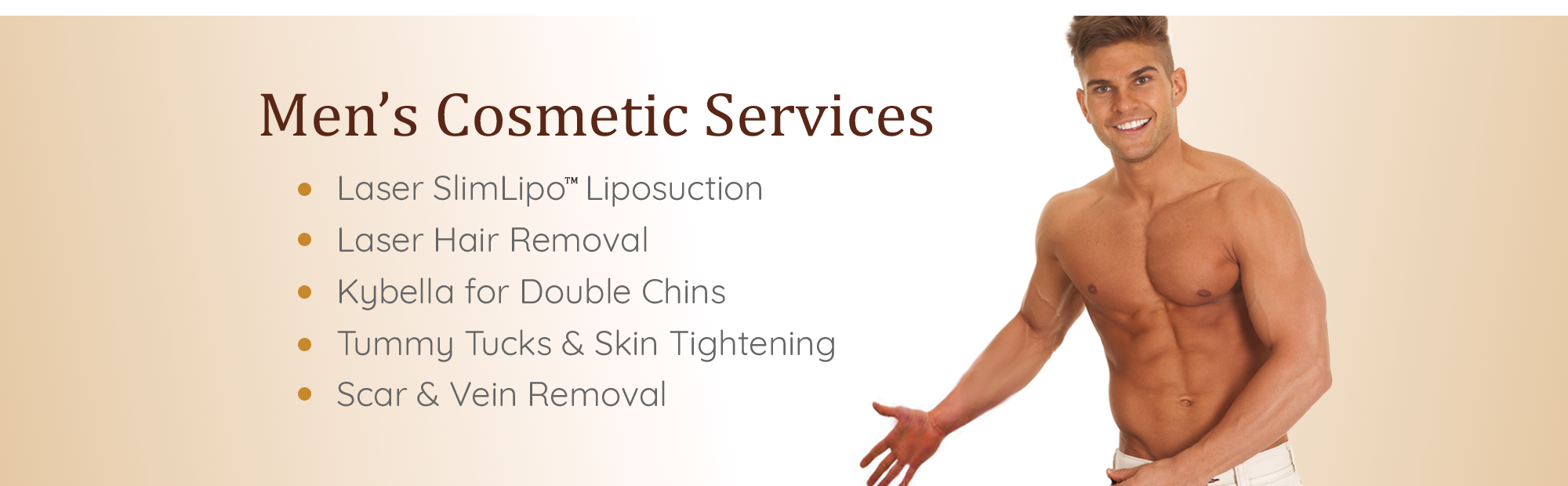 Men's Cosmetic Services, Plastic Surgery & Med Spa